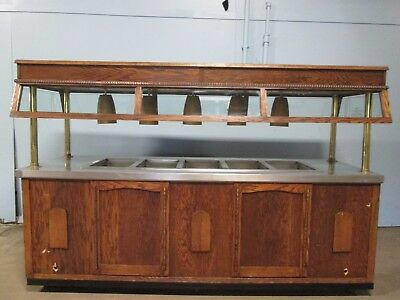 "HD COMMERCIAL 102""L (5) HOT WELLS BUFFET TABLE w/LIGHTED CANOPY / SNEEZE GUARDS"
