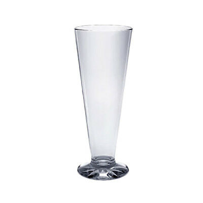 Thunder Group 13 oz Clear Polycarbonate Pilsner Glass w/ Starburst Base