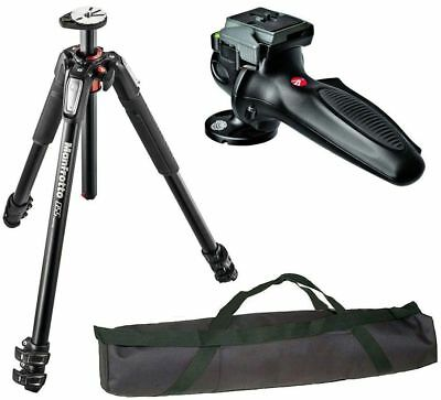 Manfrotto Pro Video Aluminium 3-Section Tripod Kit + Ball Head + QR Plate Bundle