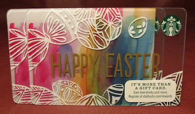Lot of 3 easter starbucks gift cards from 2018 free lot of 4 starbucks 2014 happy easter gift cards new with tags negle Gallery