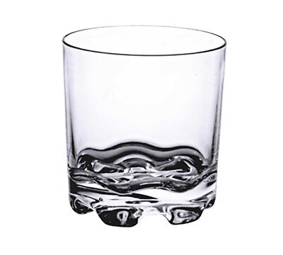 Thunder Group PLTHRG010C 10 oz Clear Polycarbonate Stackable Rocks Glass