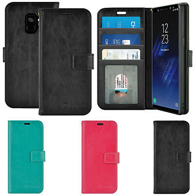 For Samsung Galaxy S9/S9+ Plus Leather Wallet Flip Stand Card Holder Case Cover
