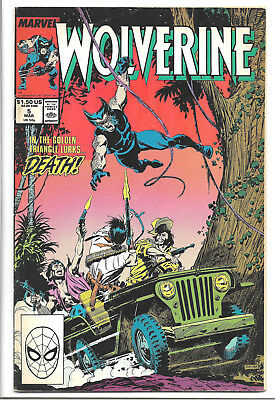 Wolverine 1988 series # 5 Marvel Comics 1989 1st App of The Harriers /Bloodsport