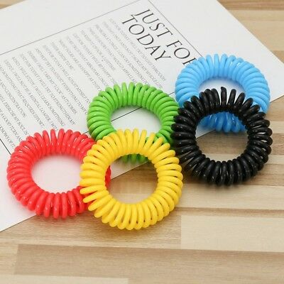 10 PCS Anti Mosquito Insect Repellent Wrist Hair Band Bracelet Camping Useful