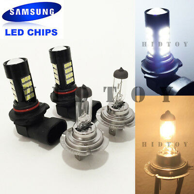 Combo 9006-HB4 9005-HB3 Samsung Chip LED 42 SMD White Headlight Bulbs Hi//Lo Beam
