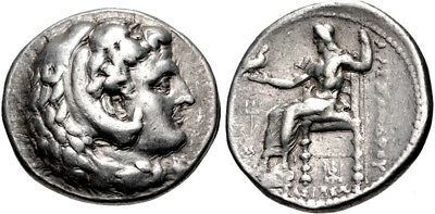 MACEDON. Alexander The Great. Silver coin from Ancient Babylon.