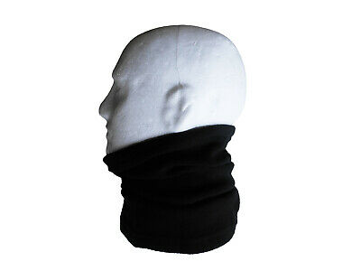 Neck/Face Warmer Tube Bandana Microfibre Fleece Black