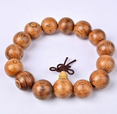 15MM Tibetan Sandalwood Buddhist Buddha Meditation Beads Prayer Mala Bracelets