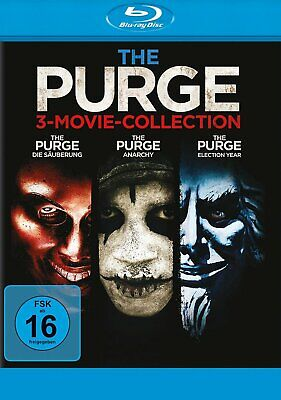 The Purge 1+2+3 Trilogy (Die Säuberung / Anarchy / Election Year) 3-BLU-RAY-NEU