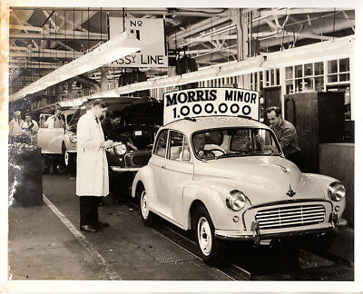 Morris Minor 1,000.000 On Production Line Period Photograph.