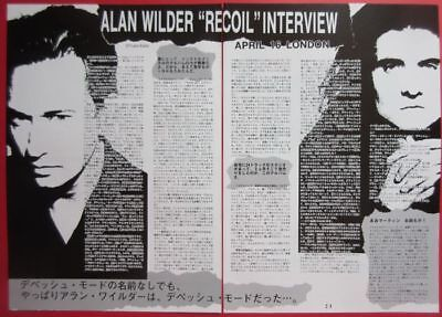1992 Alan Wilder RECOIL DEPECHE MODE CLIPPINGS JAPAN MAGAZINE N4 A11 2PAGE
