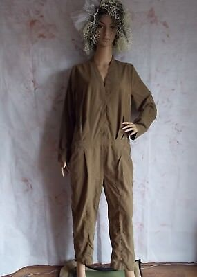 .Vintage 80s Brown Go Go Romper JumpSuit size 14/16 by FreePeople (B36)