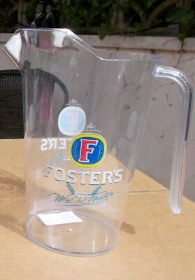 Brandnew Fosters Branded Polycarbonate 4 Pint Lined Beer Jug Pitcher Free Uk P&p