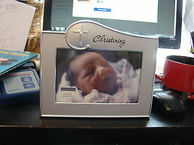 Malden 4/6 Christening Photo Frame For Your Baby Brand New No Tags