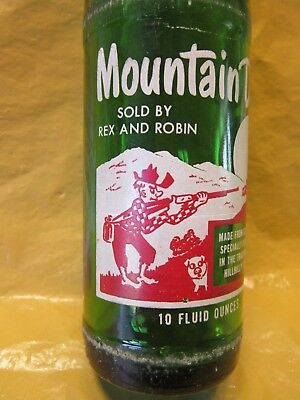 Mountain Mtn Dew Sold By Rex And Robin 1965 Glass Bottle Retro By Pepsi Cola