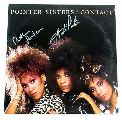Anita & Ruth Pointer Signed Record Album The Pointer Sisters Contact 2 AUTO