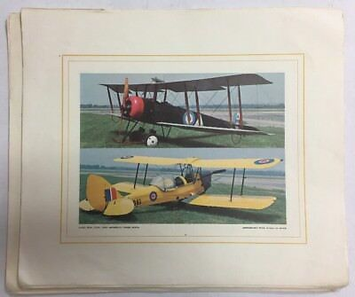 18 Pages Color Illustrations Of Royal Canadion Air Force  &  British Airplanes