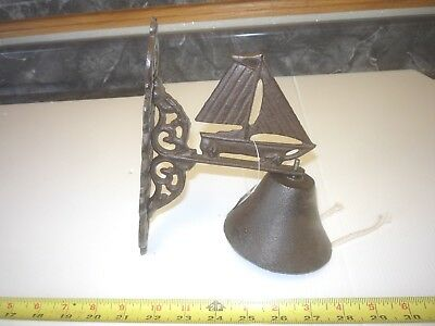 Cast Iron Sailboat Wall Mounting Bell
