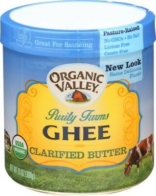 Purity Farms Ghee Organic Clarified Butter Organic Valley 13 oz Jar