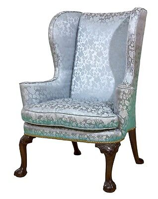 SWC-Queen Anne / George II Carved Walnut Wing Chair, England, c.1715-50