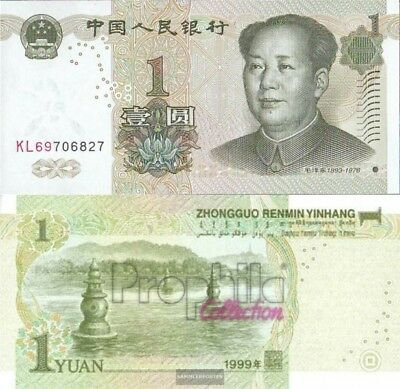 People and #39;s Republic of China Pick-number: 895a uncirculated 1999 1 Yuan