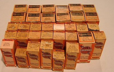 LOT OF 34 RADIO COILS Vintage NOS J.W. Miller Quality Products Allied Products