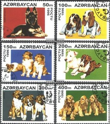 Aserbaidschan 306-311 (complete.issue.) fine used / cancelled 1996 Puppies