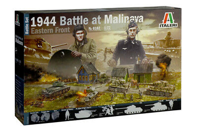 1944 Battle at Malinava Schlacht Diorama Set 1:72 Model Kit Bausatz Italeri 6182