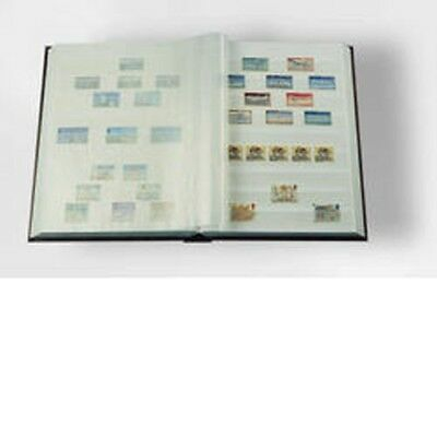 Stockbook A4, 64 white pages,non-padded cover, blue blue