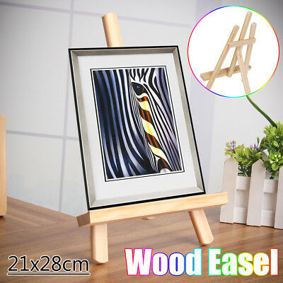 21x28cm Wood Easel Artist Art Stand Exhibition  Display Shelf Holder For Drawing