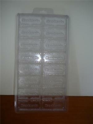 """NEW Large """"Handmade"""" Mould   Durable Hard  Plastic  8 Cavities Tray Soap  Mould"""