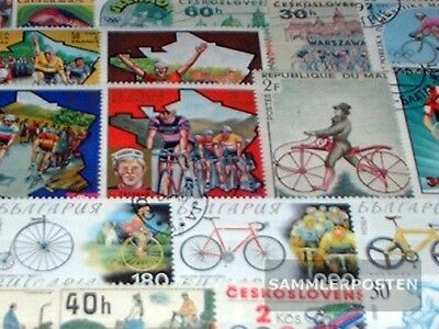 Motives 25 different Bicycles stamps