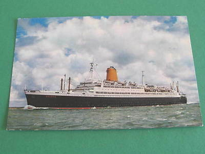 North German Lloyd Shipping Line Postcard The Ship TS Bremen