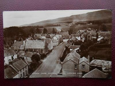 From Church Tower Looking East KIPPEN Stirlingshire RP 1934 Houses Chapel