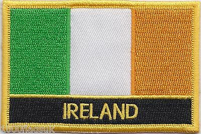 Ireland Flag Embroidered Patch Badge - Sew or Iron on