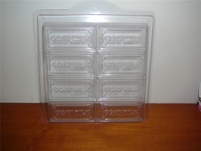 NEW Goats Milk Tray Soap Mould Durable Hard Plastic 8 Cavities Tray Soap Mould