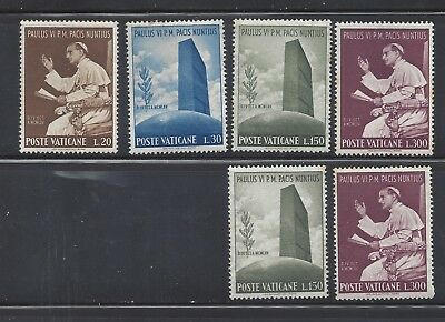 1965 Vatican Set of 4 stamps + 2 Visit of Paul VI to the UN Headquarters MNH