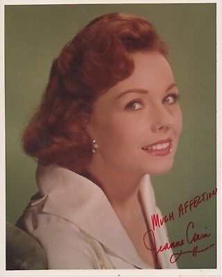 JEANNE CRAIN 'PINKY STATE FAIR' HAND SIGNED AUTOGRAPHED 8x10 PHOTO