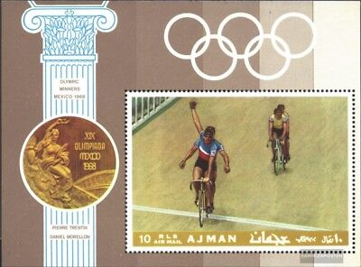 Ajman block77a (complete issue) unmounted mint / never hinged 1969 known Athlete