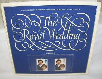 Booklet and Stamps The Royal Wedding of Prince Charles and Diana July 29 1981