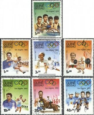 Guinea-Bissau 690-696 (complete issue) used 1983 Olympics Summe
