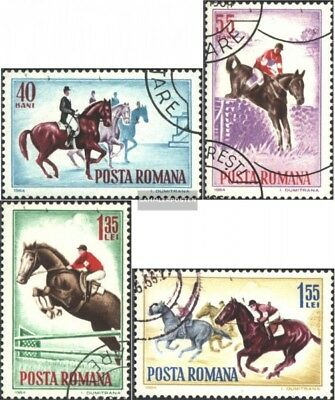 Romania 2276-2279 (complete issue) used 1964 Equestrian