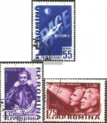 Romania 1994-1996 (complete issue) used 1961 soviet Spaceship
