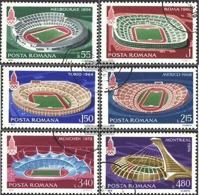 Romania 3625-3630 (complete issue) used 1979 Olympic Stadiums
