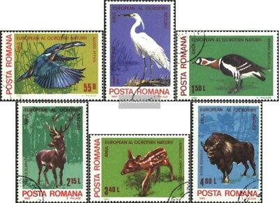 Romania 3705-3710 (complete issue) used 1980 European Conservat