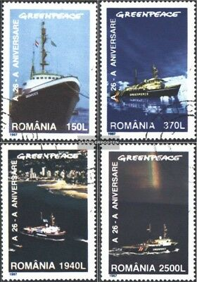 Romania 5234-5237 (complete issue) used 1997 26 years Greenpeac