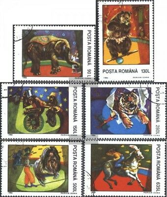 Romania 5026-5031 (complete issue) used 1994 Circus