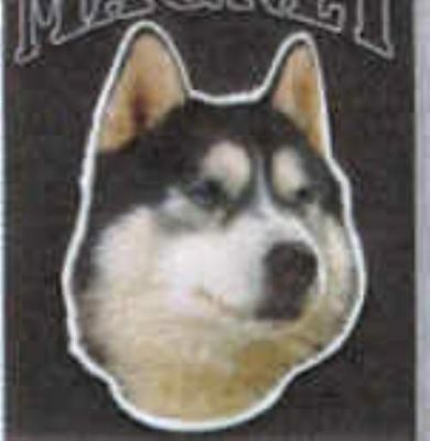 Car Magnet Die-cut SIBERIAN HUSKY Dog Breed discontinued CLEARANCE