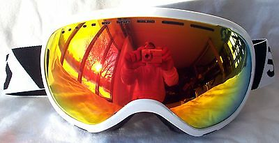 7b7f1146fcec NEW  130 Scott Mens Off Grid Winter White Snow Ski goggles Spy Orange Fire  Lens