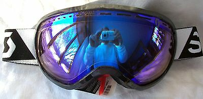 2cbc522a1c5e NEW  120 Scott Mens Off Grid Black Snow Winter Ski goggles white Spy blue  lens